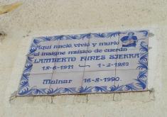 PLACA DEL LUGAR DE NACIMIENTO DE LAMBERTO FUNES. MAINAR