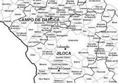 MAPA DE LAS POBLACIONES DE LAS COMARCAS OBJETO DE ESTUDIO